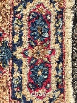 Antique Kirman Oriental Rug 2' X 4'1 Fine Weave