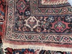 Antique Oriental Mahal Rug Handknoted Circa 1930