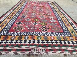 Antique Persian Kilim, kelim, country house boho vintage rustic rug, 282x152cm