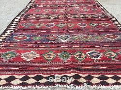 Antique Persian Kilim, kelim, country house boho vintage rustic rug, 344x141cm