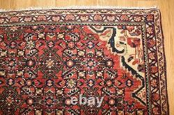 Antique Persian Rug 320 X 225 CM From Greater Hamedan Region Handmade Wool C1920
