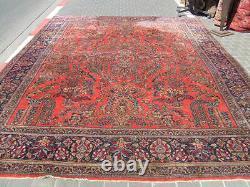 Antique Persian Sarouk Oriental Rug Carpet 1900