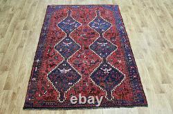 Antique Persian Shiraz Qashqai Rug Great Design And Superb Colour 185 X 135 CM