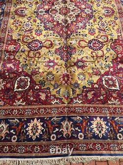 Antique Silk Rug great condition fine weave 6.10x10.5
