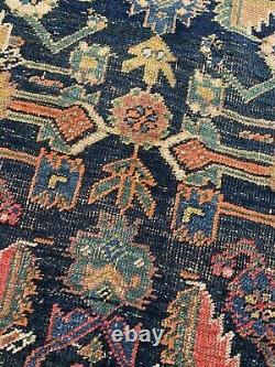 Antique Vintage Persian Red Blue Yellow Rectangular Carpet Rug 190cm X 140cm