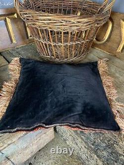 Antique Vintage Persian Red Ground Carpet Cushion Square Rug 50cm XL Pair Avail