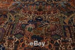 Astonishing Hunting Design Plush Vintage Persian Rug Oriental Area Carpet 10X13