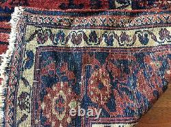 Authentic Antique Oriental Rug Lilihan Design Wool Pile