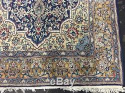 Authentic Vintage Persian Rug Hand Knotted Wool 7' X 4' 4