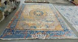 BLUE / MULTI 9' X 11'-7 Back Stain Rug, Reduced Price 1172593529 VTP435B-9