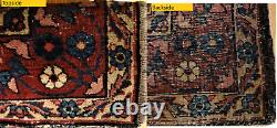 Beautiful Antique Oriental Rug Worn 3'x4' Hand Knotted 1000 KPSI