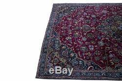Beautiful Handmade Fuchsia Rose Vintage Persian Rug Oriental Area Carpet 7X11