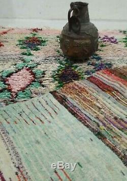 Boucherouite rug 5x8 Moroccan Berber Vintage Rug, Morocco Carpet tribal teppich