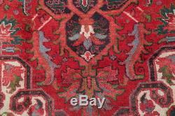 Breathtaking Vintage Geometric Heriz Serapi Persian Red Area Rug 11' 4 x 8' 5