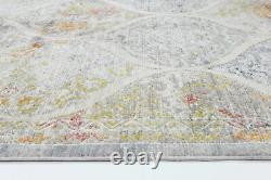 CARDENAS COLOURFUL LANTERN DISTRESSED VINTAGE ORIENTAL FLOOR RUG 7 Sizes NEW