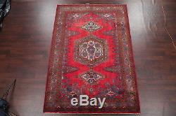 CLEARANCE! Geometric Vintage Viss Persian Hand Knotted Oriental Area Rug 7x10