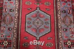 CLEARANCE Persian Vintage Geometric 4x7 WooHandmade Hamedan Oriental Area Rug