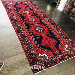 C 1940 Stunning Vintage Antique Exquisite Hand Made Rug 4 4 X 10 2