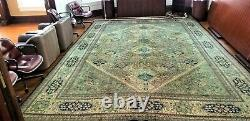 C 1970 Stunning Vintage Exquisite Hand Made Rug 12x18 Stunning Architects office