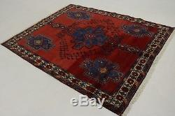 Charming Antique Vintage Shahrbabak Wool Persian Accent Rug Oriental Carpet 5X6