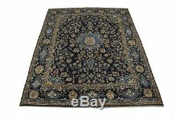 Classic Design Handmade Vintage 9X12 Navy Persian Rug Oriental Area Home Carpet