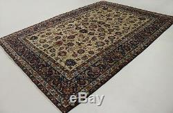 Delightful Antique Vintage Floral Design Persian Style Oriental Rug Carpet 8X12