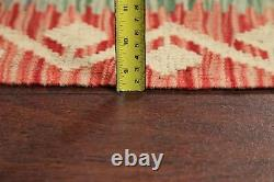 Diamond Shape Kilim Turkish Oriental Area Rug Wool Hand-Woven Navajo Carpet 7x10