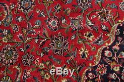 END OF SEASON SALE! Vintage Floral Mashad Persian Hand Knotted Red Area Rug 9x12