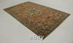 Excellent Quality Orange Turkish Vintage Persian Style Rug Oriental Carpet 7X10