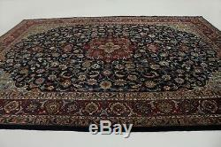 Exceptional Handmade Antique Navy Vintage Persia Rug Oriental Area Carpet 10X12