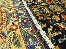 Exquisite 1950's Authentic Vintage Mint Hand Made Knotted Rug 9.9 x 12.8