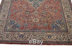 Exqusite 13x9 ft Vintage Muted RUST Sarouk Heriz Nain Veg Dye Hand knotted Rug