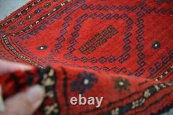 F2149 Vintage Hand Knotted Tribal Rug, Persian Unique Small Rug 2'3 x 3'2 Feet
