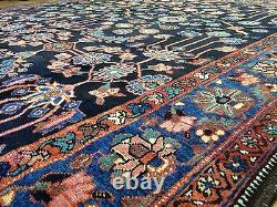 Fantastic Floral 1900s Antique Oriental Rug Handmade Carpet 8.4 x 11 ft