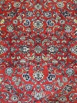 Fantastic Floral 1960s Vintage Oriental Rug Handmade Carpet 8.2 x 11 ft