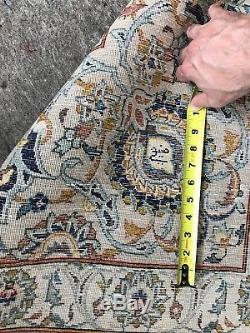 Fine Persian kashan Rug Huge 11 By 18 Ft, Vintage, Signed, Excellent Condition