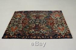 Floral Semi Antique Handmade Vintage Persian Rug Oriental Area Home Carpet 4X6