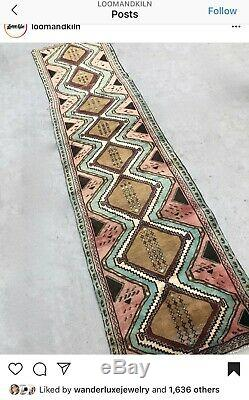 GORGEOUS Loom and Kiln Vintage Rug (2'6 x 10'1)