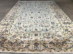 GREEN ANTIQUE RUG 8x12 HAND-KNOTTED VINTAGE handmade hand-woven 9x12 8x11