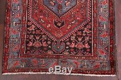 Geometric Tribal 5x7 Vintage Hamedan Persian Oriental Area Rug 6' 8 x 4' 6