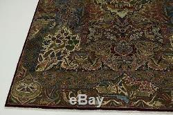 Gorgeous Animal Design Vintage Kashmar Persian Rug Oriental Area Carpet 9'4X12'8
