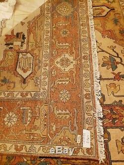 Gorgeous Vintage Wool 8 x 12 Hand Knotted Persian Oriental Rug FREE SHIPPING