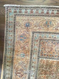 Haji Jalili Tabriz Antique Silk Prayer Rug Persian vintage original