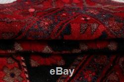 Hamadan Persian Area Rug Oriental Handmade Geometric Vintage Wool 3 x 7 Carpet