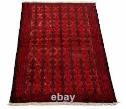 Hand-knotted Carpet 3'3 x 6'3 Traditional Vintage Wool Rug. DISCOUNTED