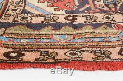 Hand-knotted Carpet 3'5 x 4'5 Traditional Vintage Red Wool Rug