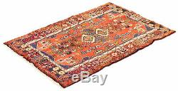Hand-knotted Carpet 3'5 x 5'2 Traditional Vintage Wool Rug