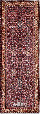 Hand-knotted Carpet 3'6 x 10'0 Traditional Vintage Wool Rug