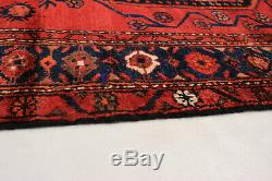 Hand-knotted Carpet 4'1 x 6'2 Traditional Vintage Wool Rug