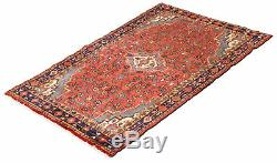 Hand-knotted Carpet 4'2 x 6'9 Traditional Vintage Wool Area Rug